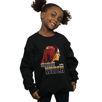 Merveille filles Vengeurs Infinity War Scarlet Witch caractère Sweatshirt