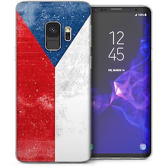 Samsung Galaxy S9 Retro Czech Flag TPU Gel Case - Red