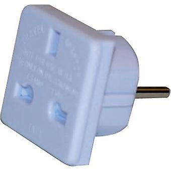Travel Adapter Plug UK To European 2pin CE Approved