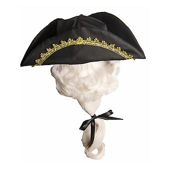 Colonial 18th Judge Lawyer Barrister Olden Day Boys Costume Tricon Hat & Wig
