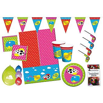 Animals animals party package 55-teilig kids birthday kids party
