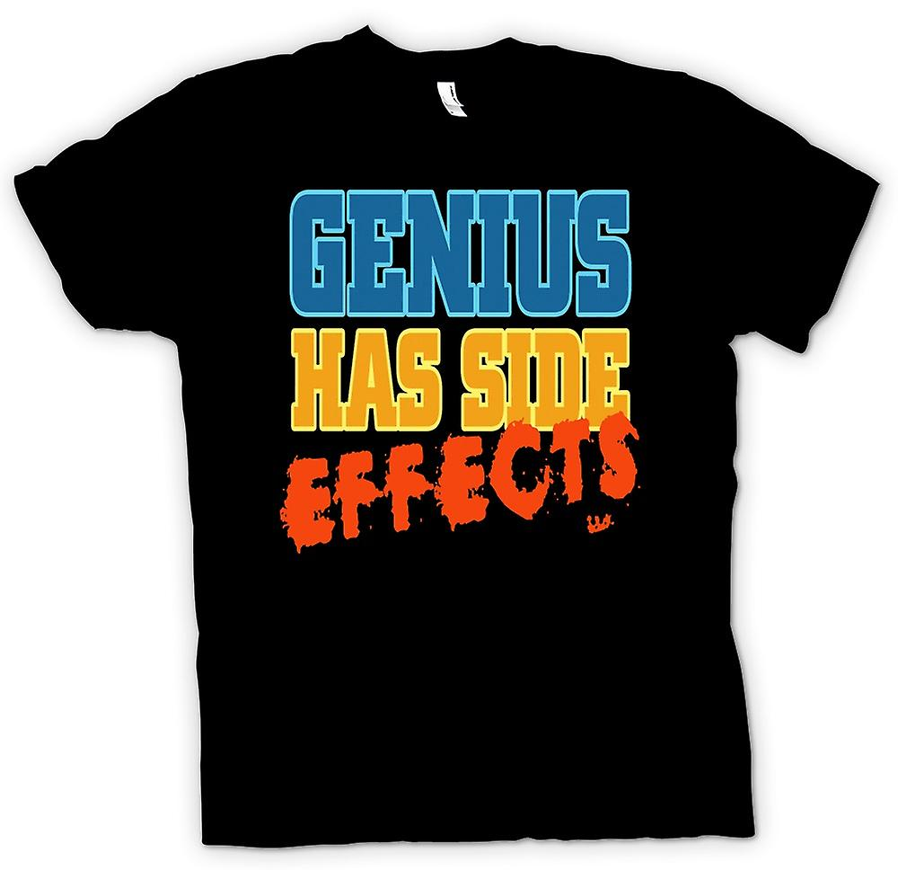 Mens t-shirt-Genius ha effetti collaterali