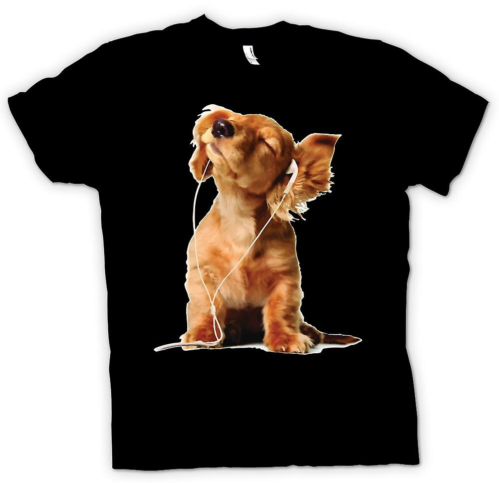 Kids t-shirt-Spaniel escuchando Ipod - lindo