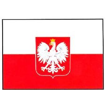 Polen flagg 5 ft x 3 ft med hull For hengende