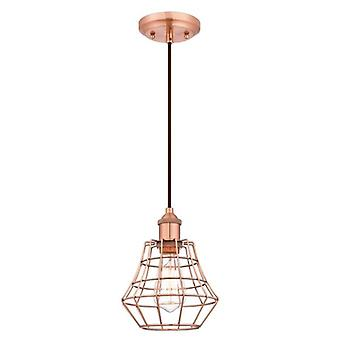 Westinghouse Nathaniel One-Light Pendant brushed copper with angled cage