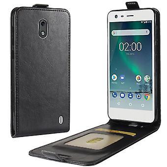 Премиум флип случае, черный для Nokia 2 2017 рукавом чехол защиты аксессуары сумка новый