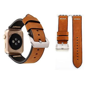 Genuine leather bracelet for Apple Watch series 1 / 2 / 3 42 mm Brown
