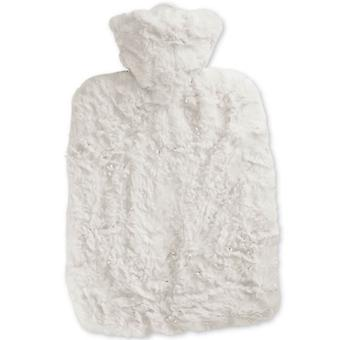 Hugo Frosch Hot Water Bottle With Soft White Cover Estravaganza1.8L