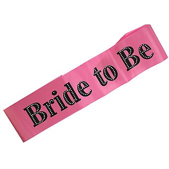 Hen Night Pink Bride to Be Sash with Diamante Hen Party Accessory