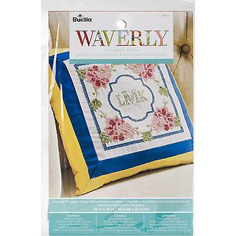 Stamped Embroidery Monogram Pillow Kit 10