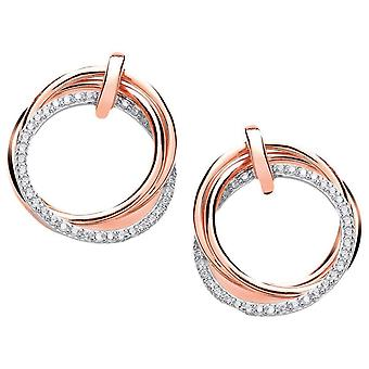 Cavendish French Loops and Hoops Earrings - Silver/Rose Gold