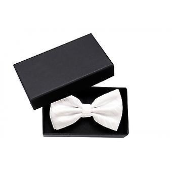 Wedding fly uni loop Fabio Farini gloss white classy striped bow tie