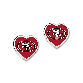Wincraft ladies 3D heart Stud Earrings - NFL San Francisco 49ers