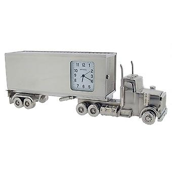Gift Time Products Small Container Lorry Mini Clock - Silver