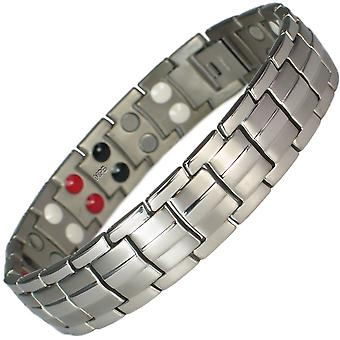 MPS® EUROPE 4 in 1 Classic Titanium Magnetic Bracelet + Free Links Removal Tool