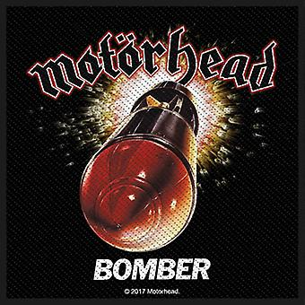Motorhead Patch Bomber Band Logo Official New Black Cotton Sew On 10cm x 10cm