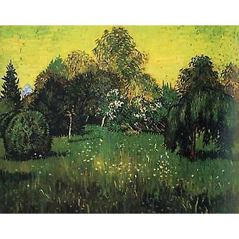 The Poet's Garden in, Vincent Van Gogh, 50x40cm