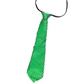 Bågar och band Glitter slips grön