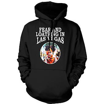 Mens Hoodie - Fear Loathing - Hunter S Thompson Funny - Movie