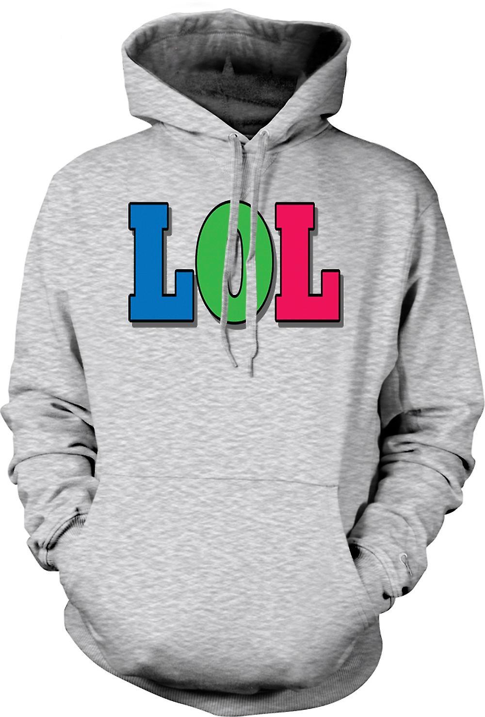 Mens Hoodie - Lol - Funny
