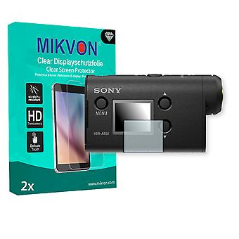 Sony HDR-AS50 Screen Protector - Mikvon Clear (Retail Package with accessories)