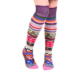London women's crazy combed cotton over-the-knee socks | French design by Dub & Drino