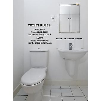 Toilet Rules Bathroom Wall Sticker