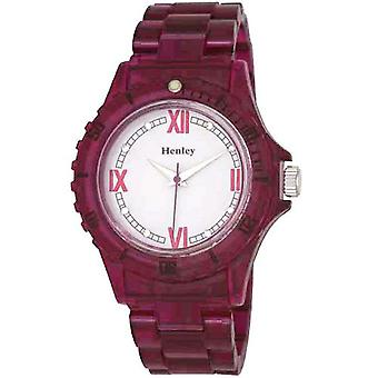 Henley Glamour Berry Translucent Sports Watch