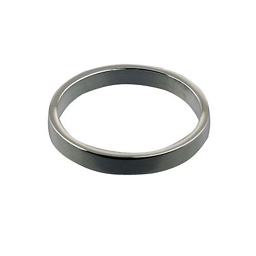 18ct White Gold 3mm plain flat Wedding Ring Size Z