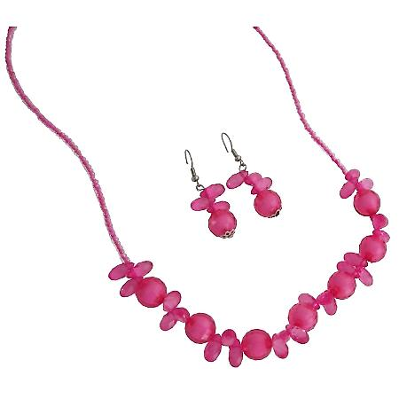 Discount Price Fine Girls Jewelry In Pink Beads