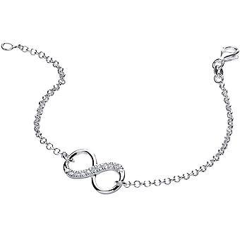 Bella Cubic Zirconia Single Infinity Necklace - Silver