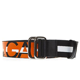 Dolce E Gabbana naranja/negro correa de algodón