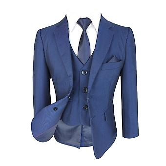 Boys All in One Blue Suit, Dark Blue