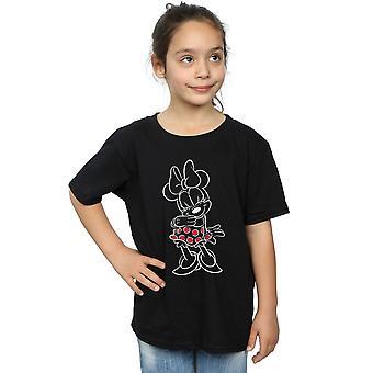 Disney Girls Minnie Mouse Outline Polka Dot T-Shirt