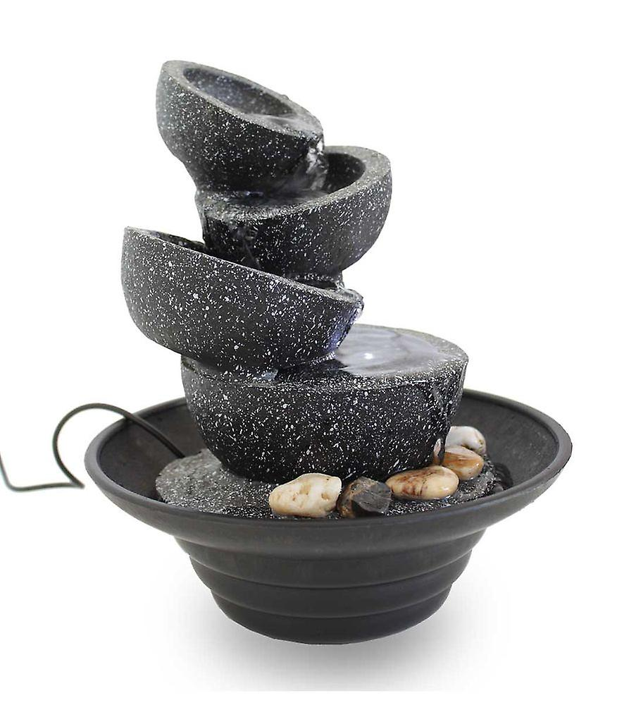 Room table fountain of Dekobrunnen FoBowls with LED 10869