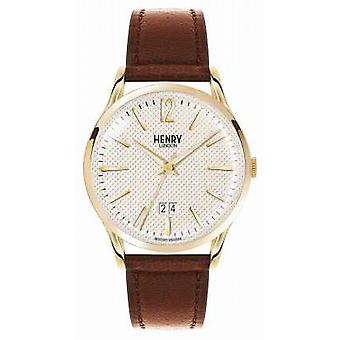 Henry London Westminster brun læderrem Champagne HL41-JS-0016 Watch