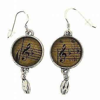The Olivia Collection Silvertone Sheet Music Notes Drop Earrings FJ1293