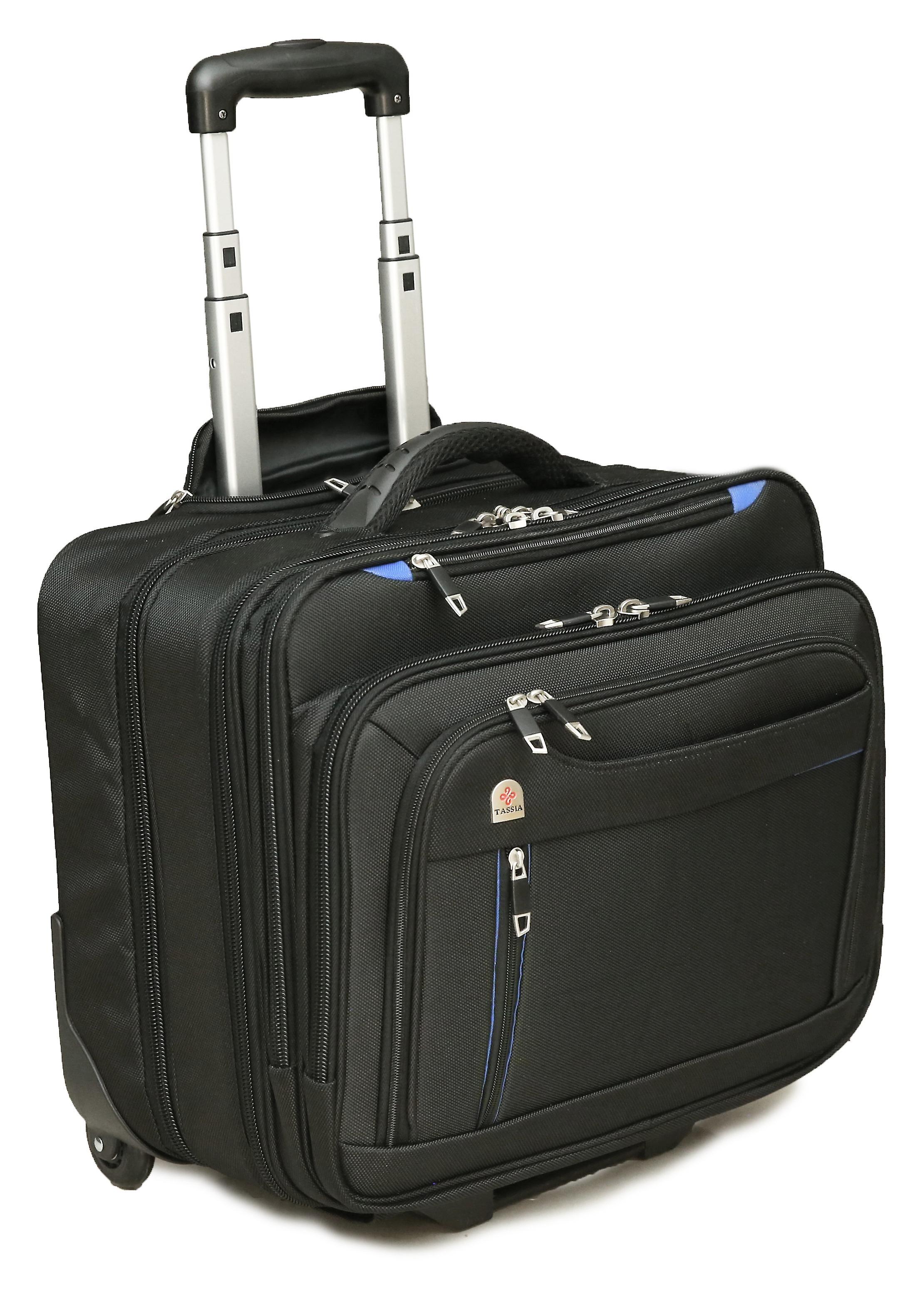 Tassia Large Wheeled Laptop Case Roller Bag Pilot Case 17