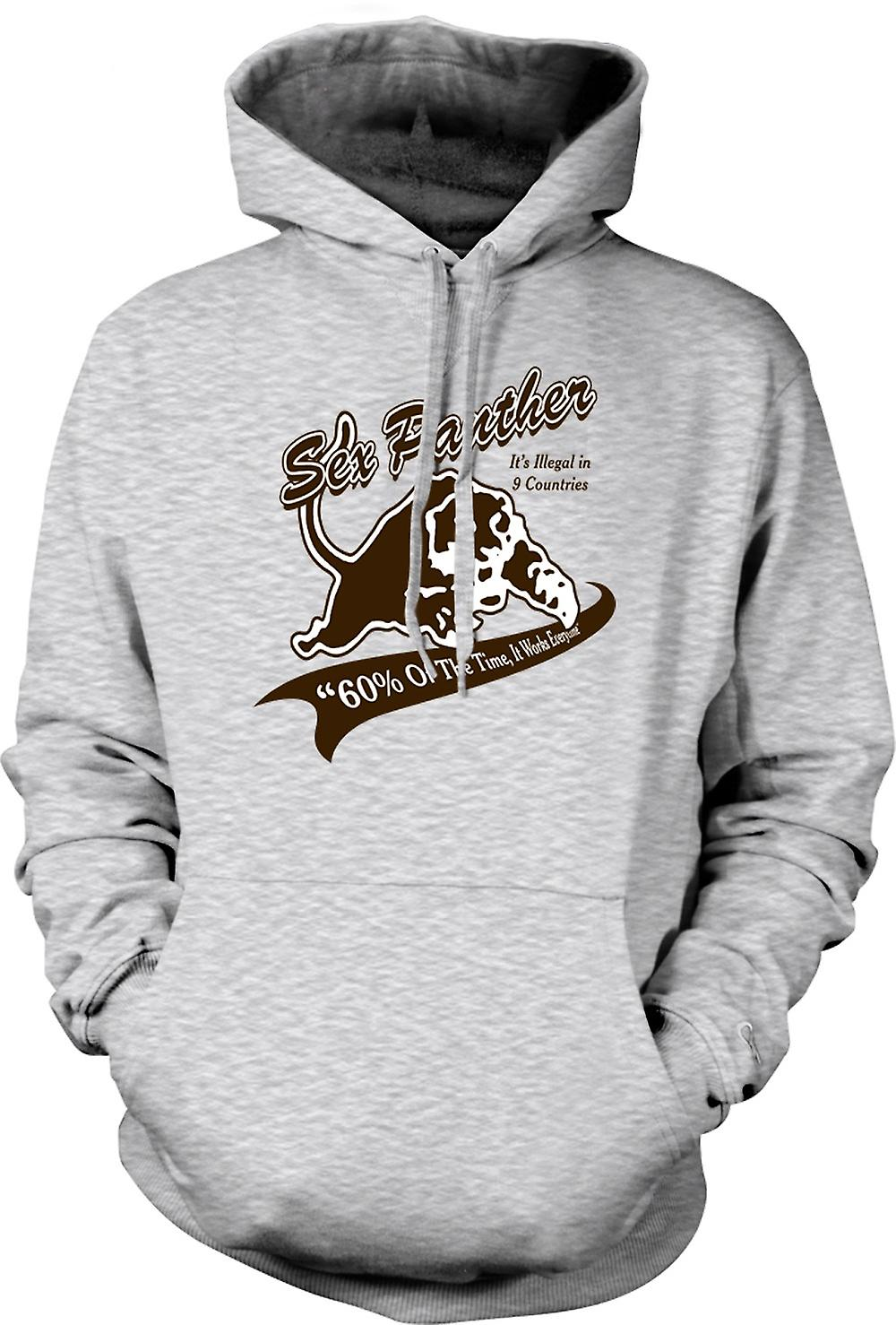 Mens Hoodie - Anchor Man - Sex Panther - Funny