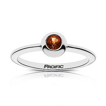 University Of The Pacific - Pacific Engraved Dark Citrine Ring