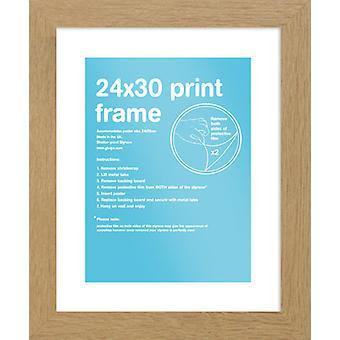 Eton marco roble 24 x 30cm cartel / impresión marco