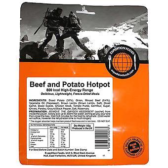 Expedition livsmedel nr färg nötkött och potatis Hotpot