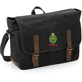 Royal Regiment Of Fusiliers Crest Veteran - Licenza British Army Ricamato Canvas Messenger Bag