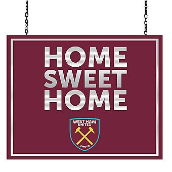 West Ham United FC oficial Metal Home Sweet Home sinal