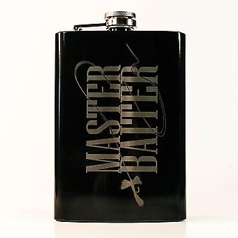 8oz black flyfishing master baiter flask l1