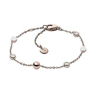 SKAGEN kvinnors armband i rostfrittstål med cubic zirconia och rund pärlemor
