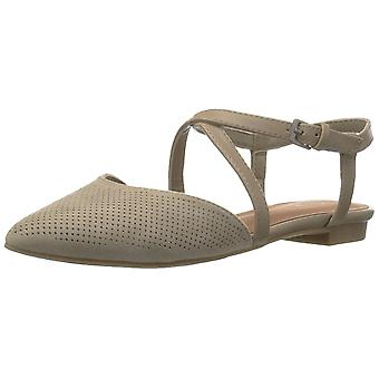 Indigo Rd. Womens Genetic3 Pointed Toe Ankle Strap Slide Flats