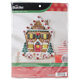 Nordic Gingerbread House Felt Applique Kit-18