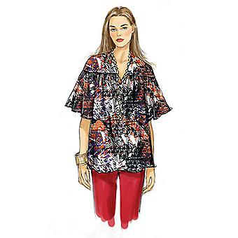 Misses' Top, Tunic And Belt  Lrg 16  18 Xlg 20  22 Xxl 24  26 Pattern V8832  Zz0