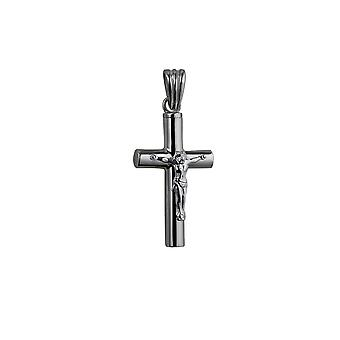Silver 32x18x4mm handmade Memorial Crucifix Cross